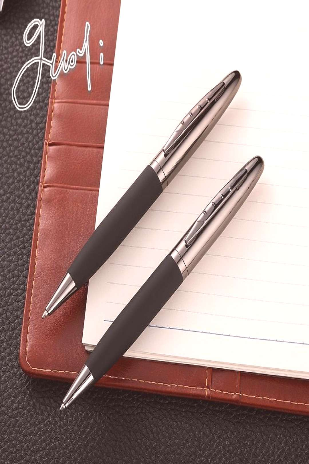 Creative Leather Metal Shell Ballpoint Luxury Business Pen  Starting from $4.29 - Fast Shipping