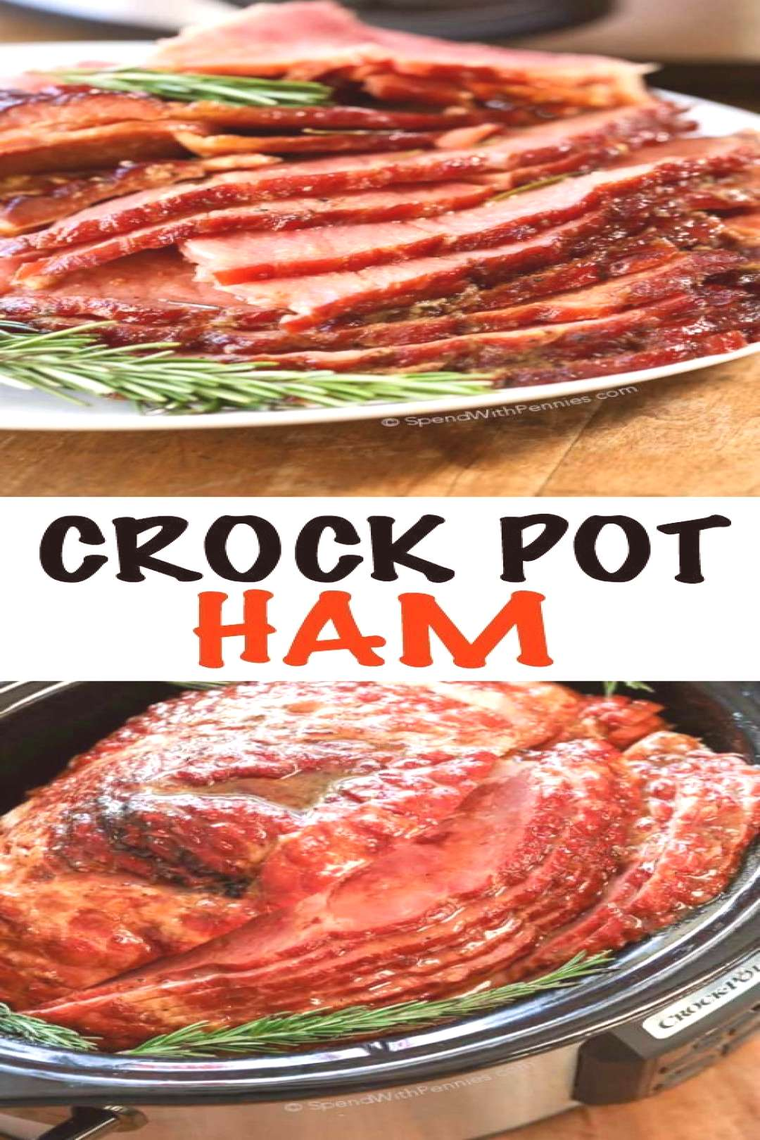 Crock Pot Ham (Video) Easy Holiday Meal! - Spend With Pennies - This easy Crock Pot Ham is the p