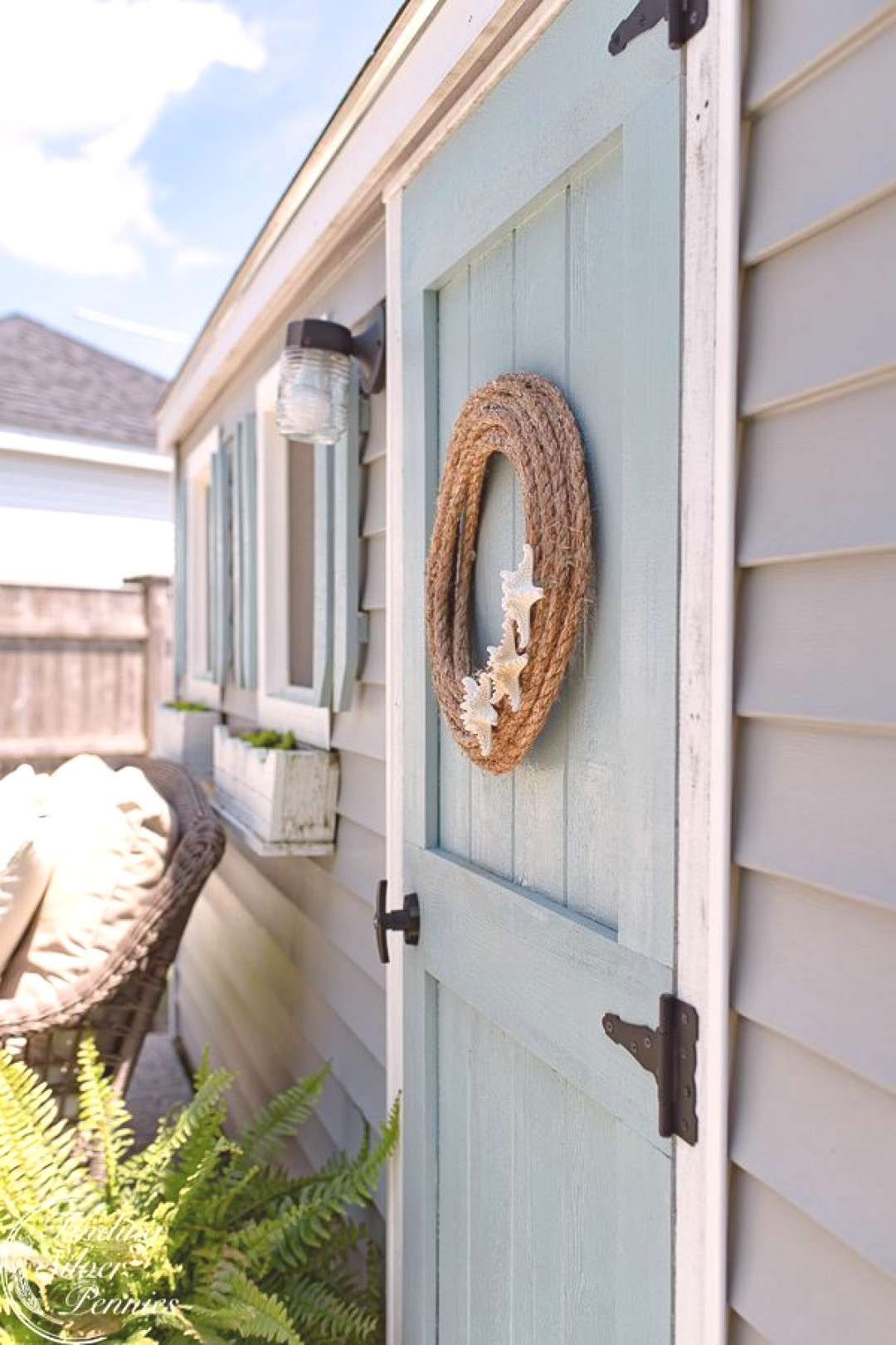 DIY Rope and Starfish Wreath - Finding Silver Pennies, ... DIY Rope and Starfish Wreath - Finding