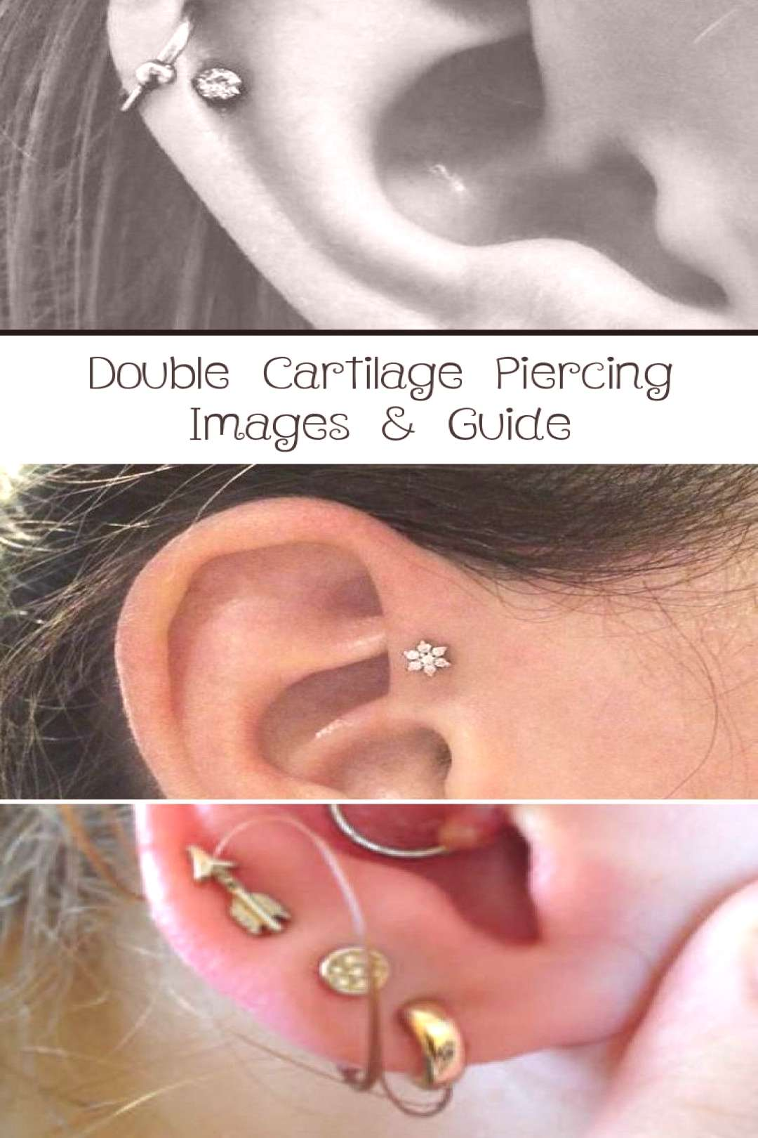 Double Cartilage Piercing Images & Guide - PIERCINGS - ... - Double Cartilage Piercing Images & Gui