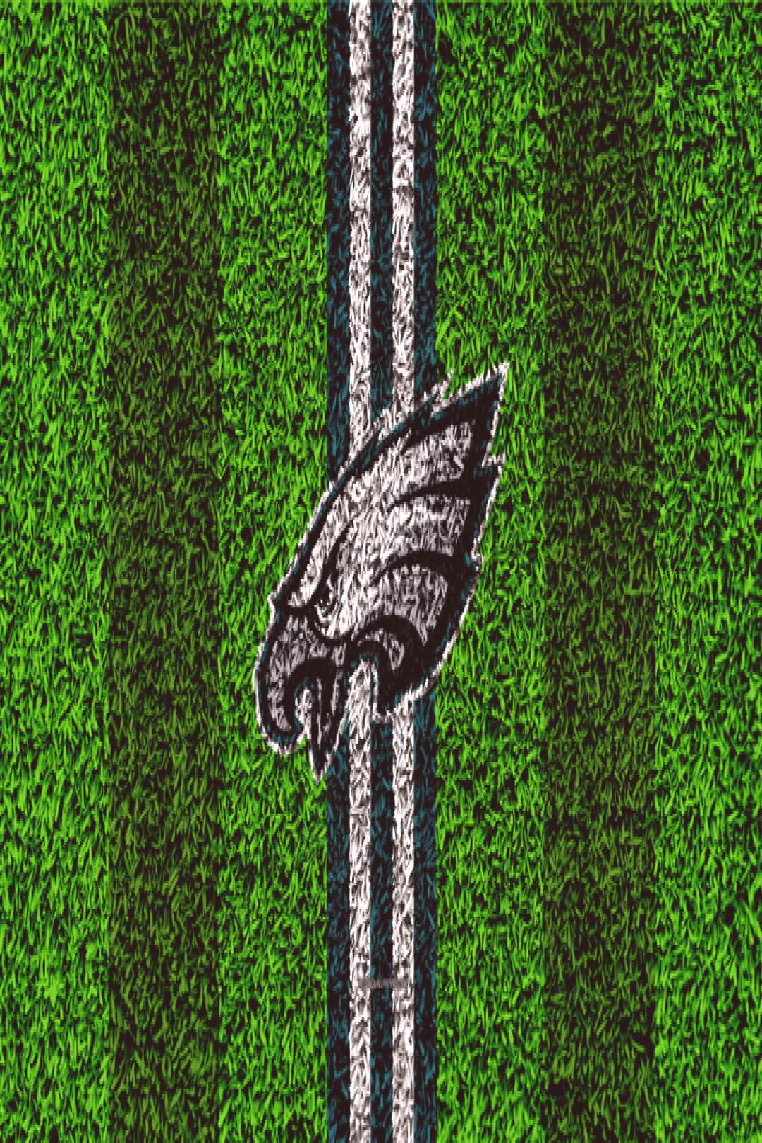 Download wallpapers Philadelphia Eagles, logo, 4k, grass texture, emblem, football lawn, green whit
