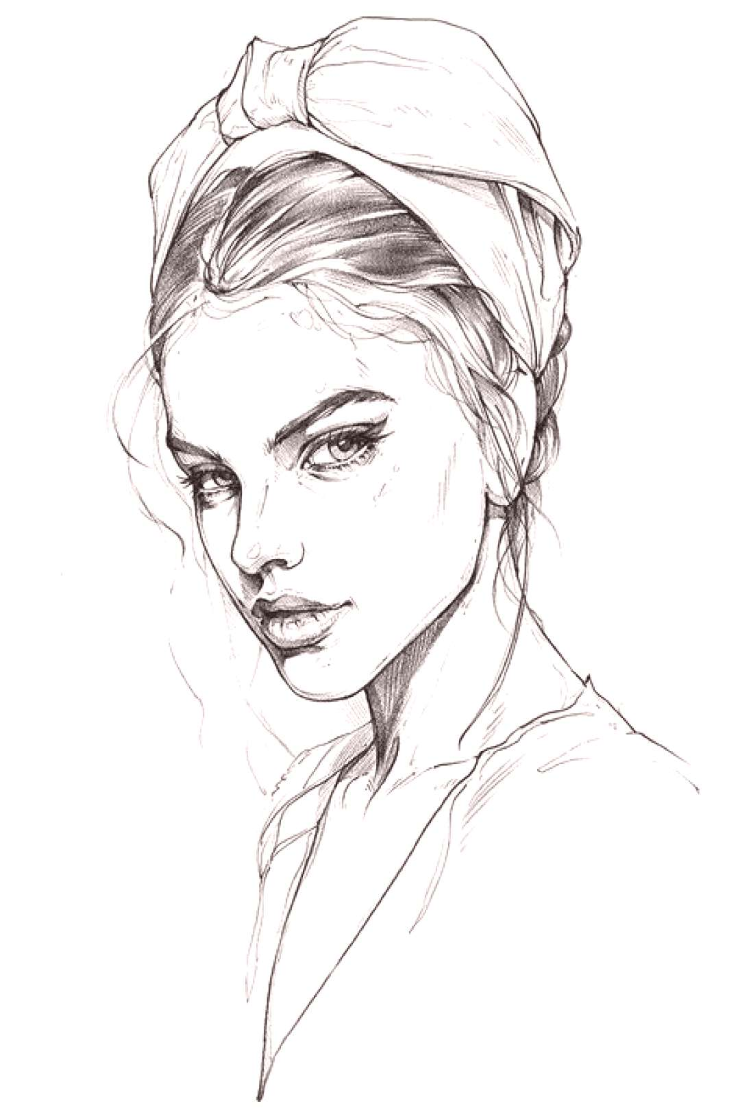 Drawing Pencil Portrait Girls Faces 18 Ideas For 2019