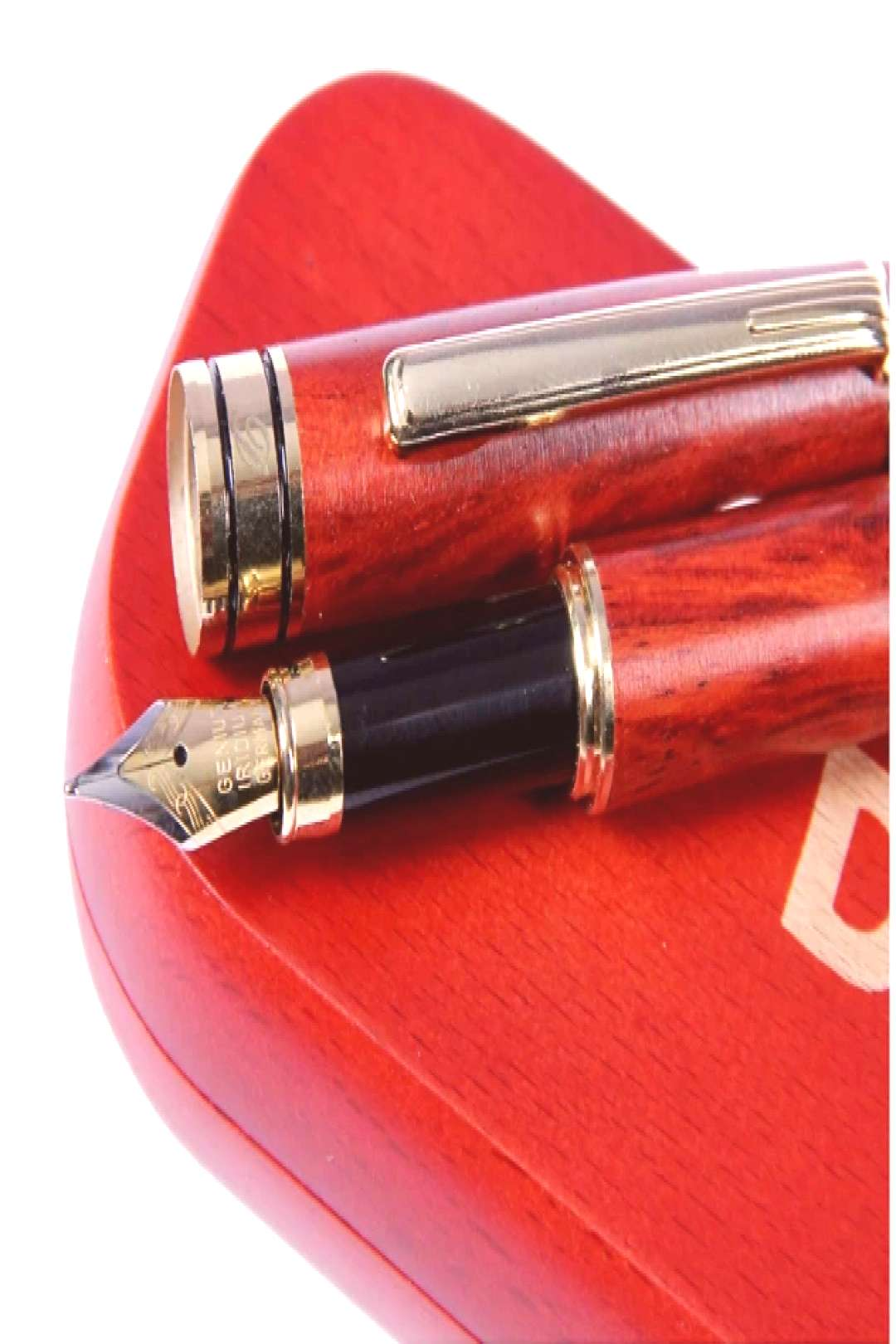Dryden Luxury Rosewood Fountain Pen with Gift Case | 100% Handcrafted | Executive Fountain Pens Set