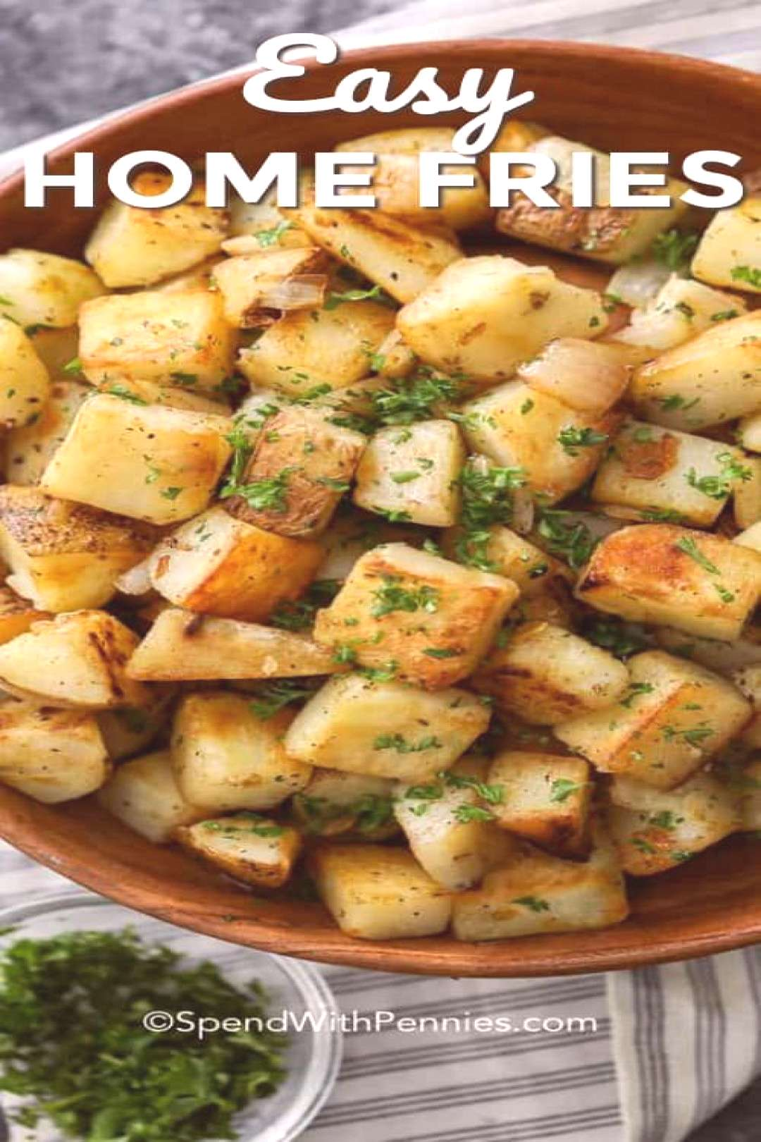 Easy Home Fries - Spend With Pennies - These easy home fries are the perfect breakfast side dish.