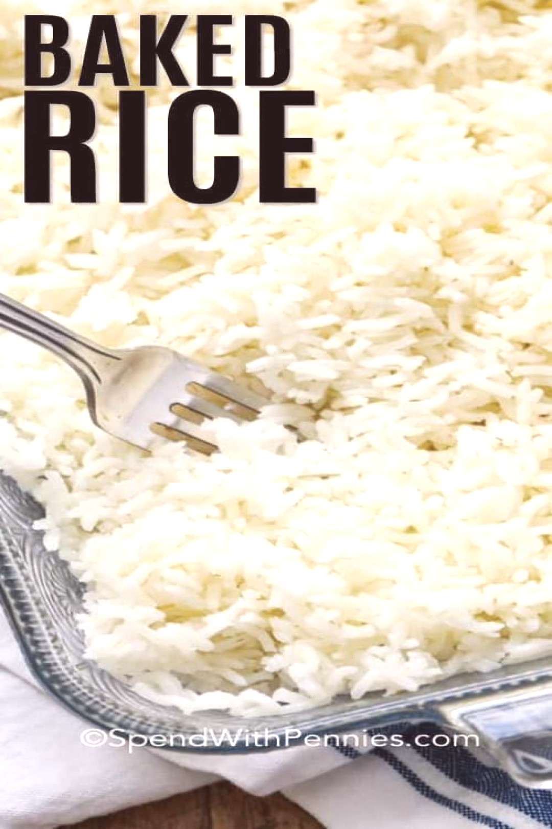 Easy Oven Baked Rice {3 ingredients!} - Spend With Pennies-#airfryerrecipes Whether cooking white r