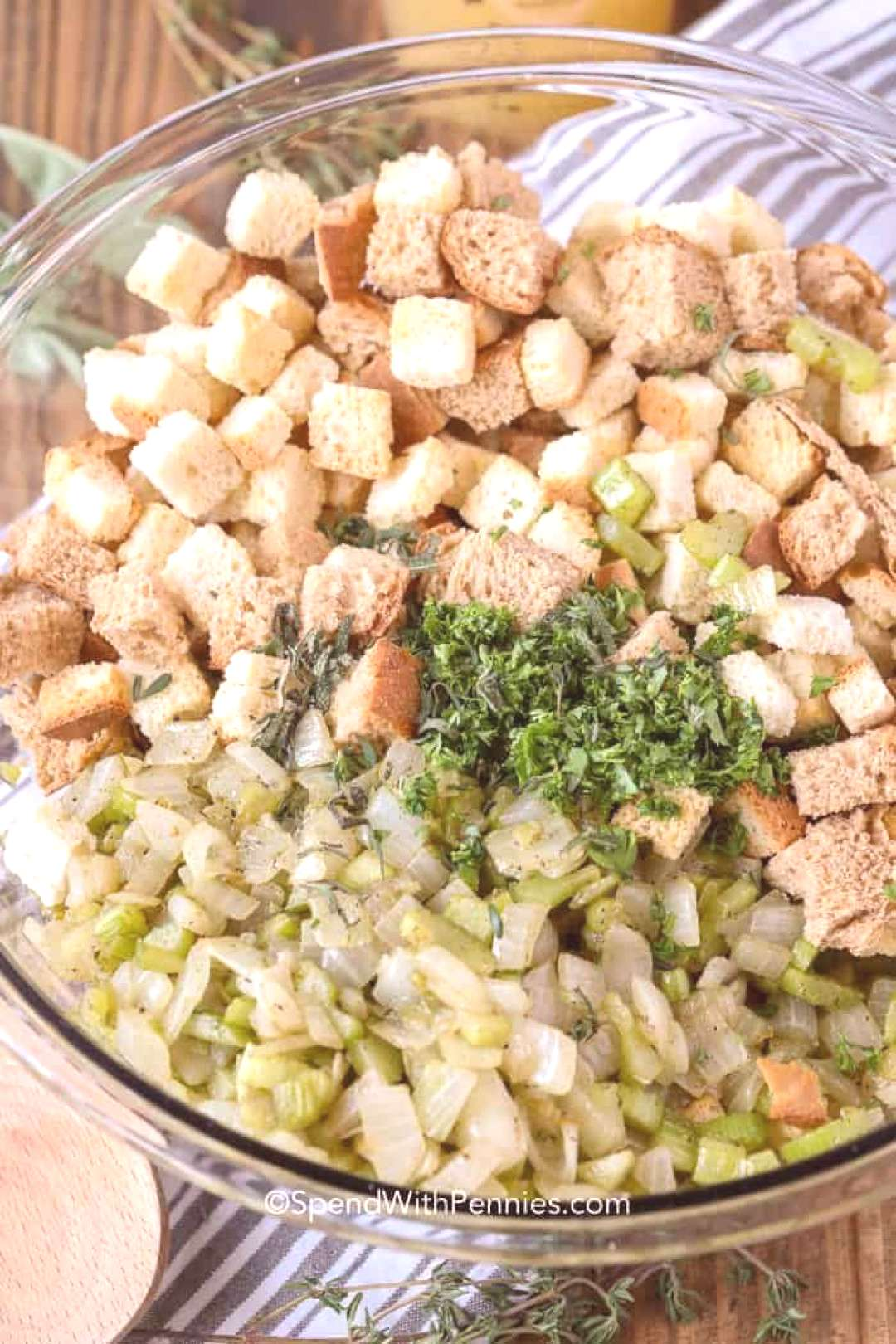 Easy Stuffing Recipe - Spend With Pennies -  This easy stuffing recipe is the perfect side dish for