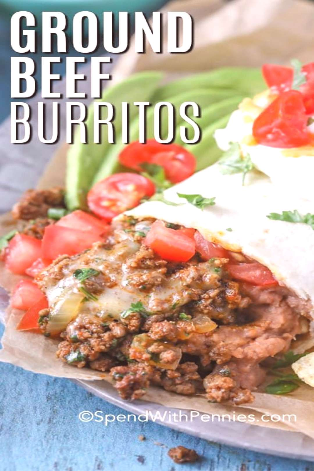 Favorite Beef Burritos (ground beef) - Spend With Pennies, Favorite Beef Burritos (ground beef) -
