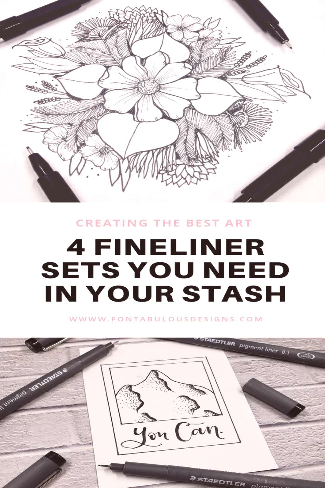 Fine Liners: Four Sets You Need in Your Stash — Fontabulous Designs Fine liners, bullet tip pens