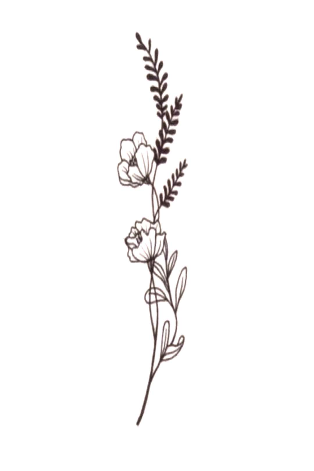 Floral tattoo design -  Floral tattoo design  -