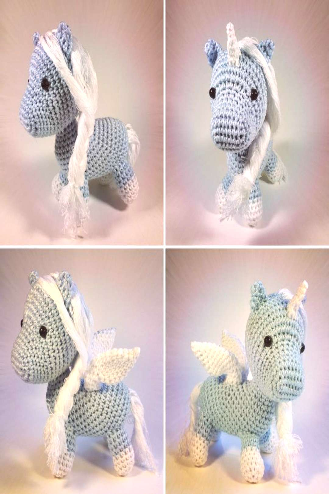 Free crochet pattern: Baby Pegasus or winged unicorn - for fluffy ... ,  Free crochet pattern: Baby