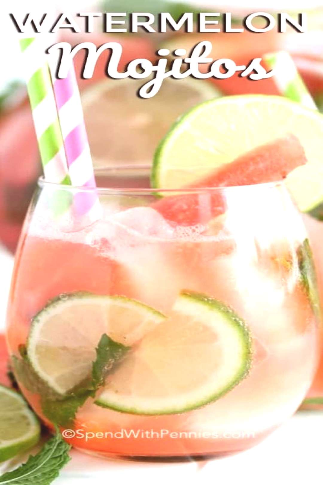 Fresh Watermelon Mojitos - Spend With Pennies - -
