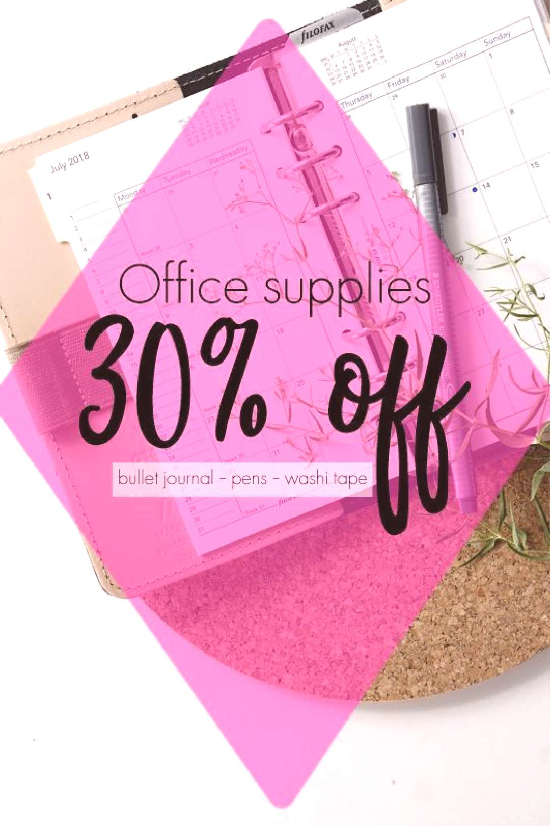 Get into your bullet journal groove with these office supplies. From washi tape to pens and everyth