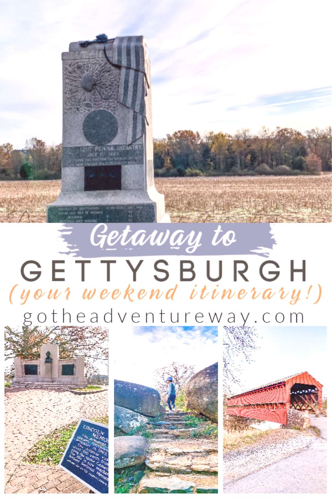 Getaway To Gettysburg - Go The Adventure Way Planning a trip to Gettysburg, PA? There is so much to