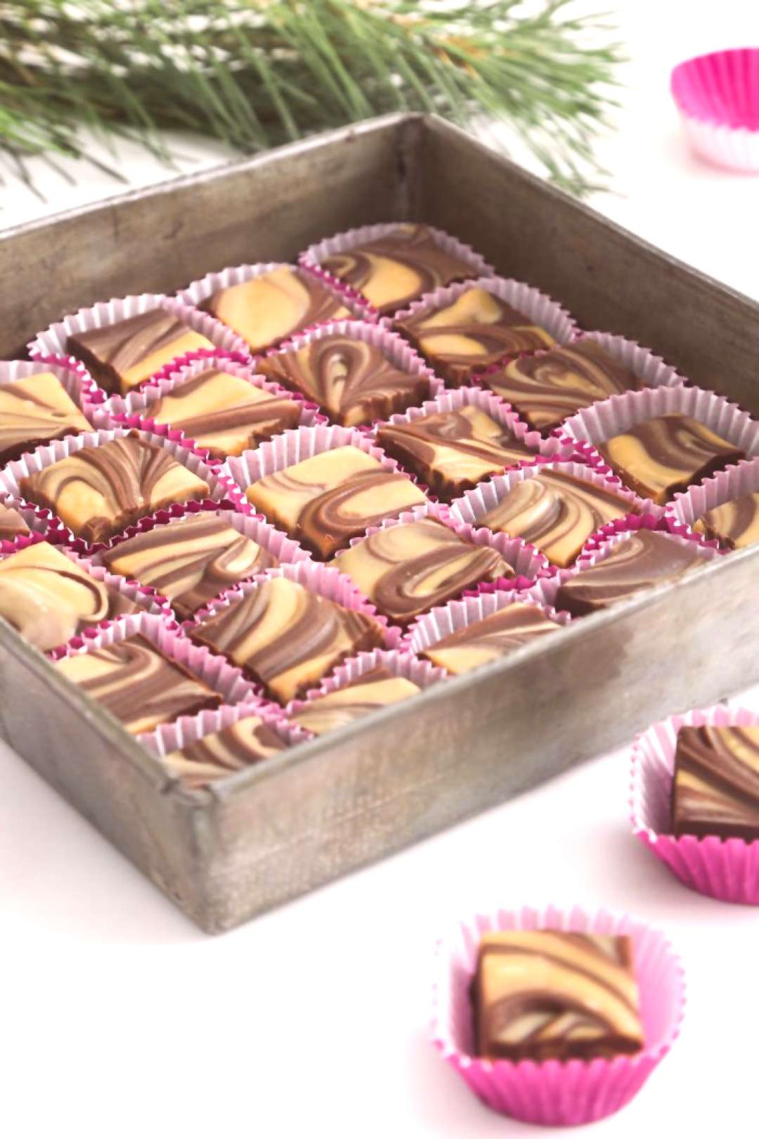 Gift This! Easy Chocolate Peanut Butter Swirl Fudge   Sprinkle Bakes