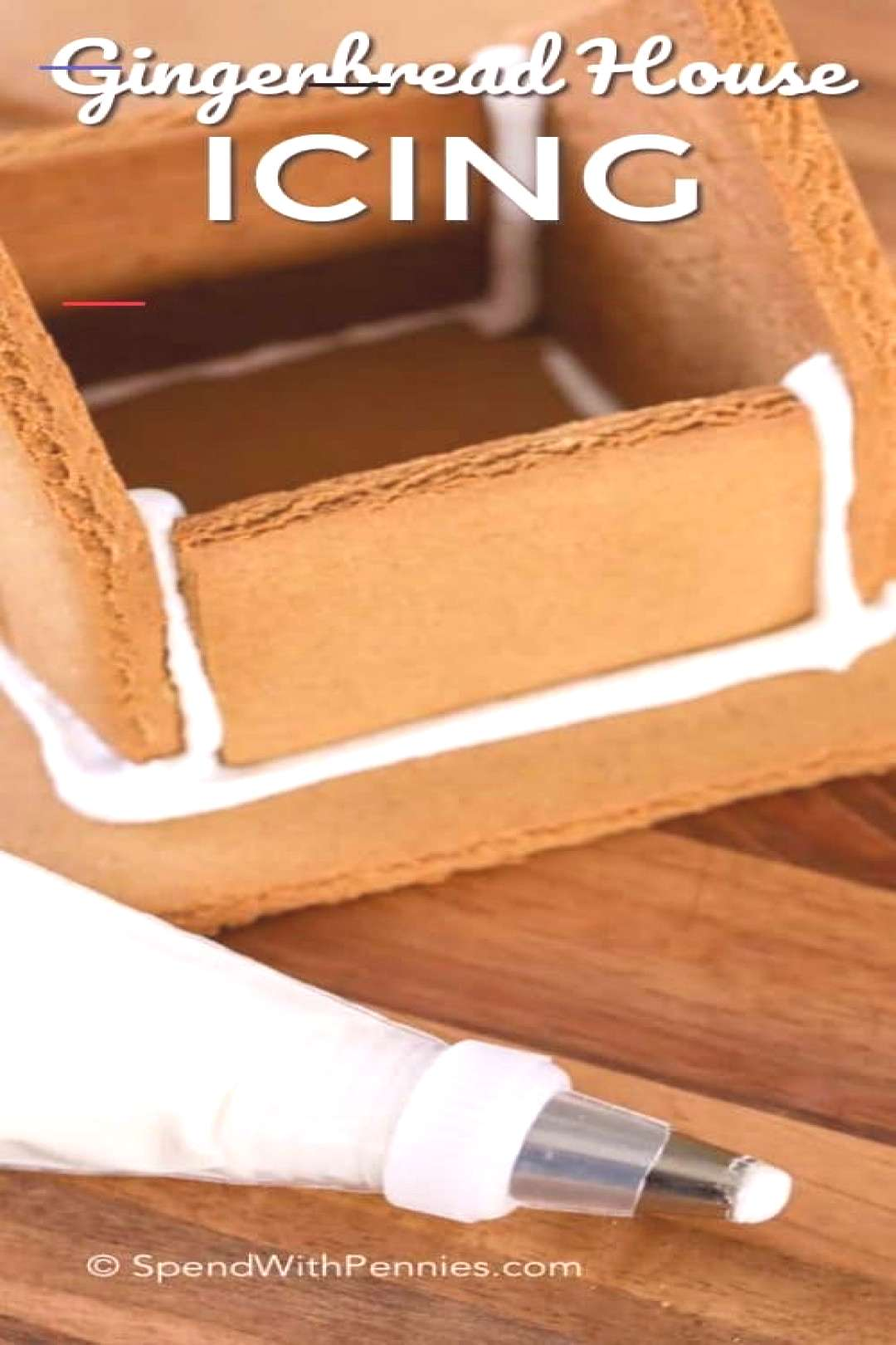 Gingerbread House Icing - Spend With Pennies Gingerbread House Icing - Spend Wit... - Gingerbread