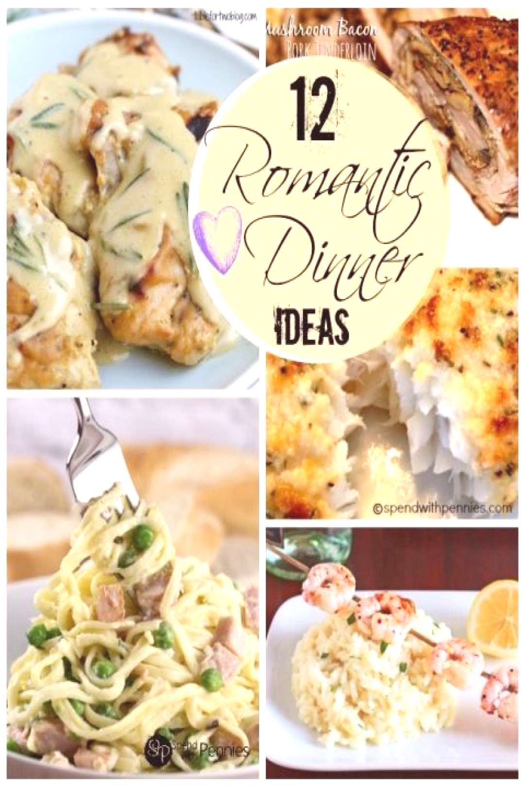 Great Romantic Dinner Tips and Ideas! - Spend With Pennies#dinner