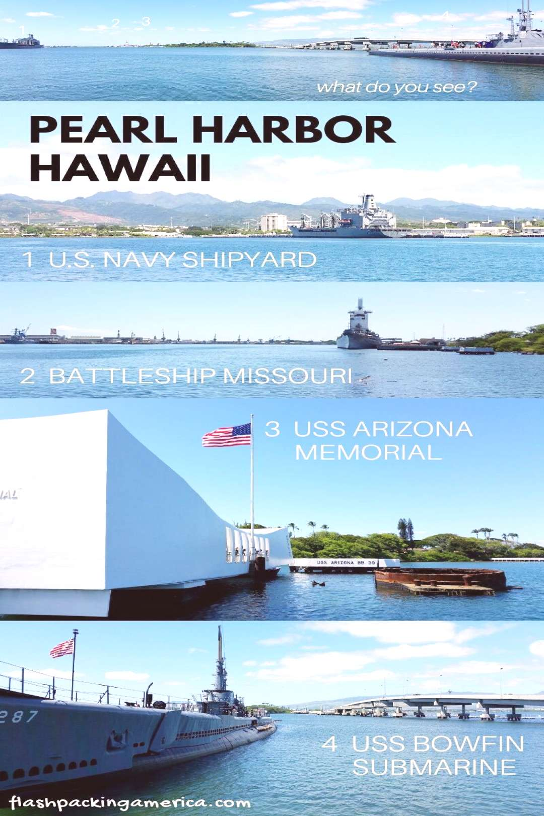 Hawaii travel tips for pearl harbor memorial on Oahu Hawaii. Can you visit Pearl Harbor without a t