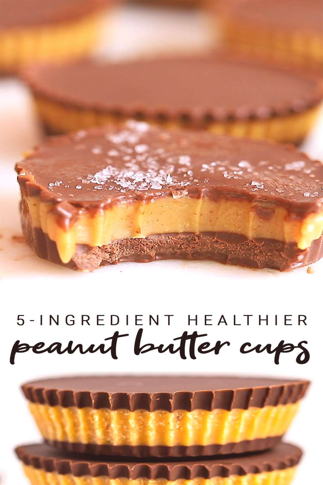 Healthy Peanut Butter Cups | 5-Ingredient Recipe