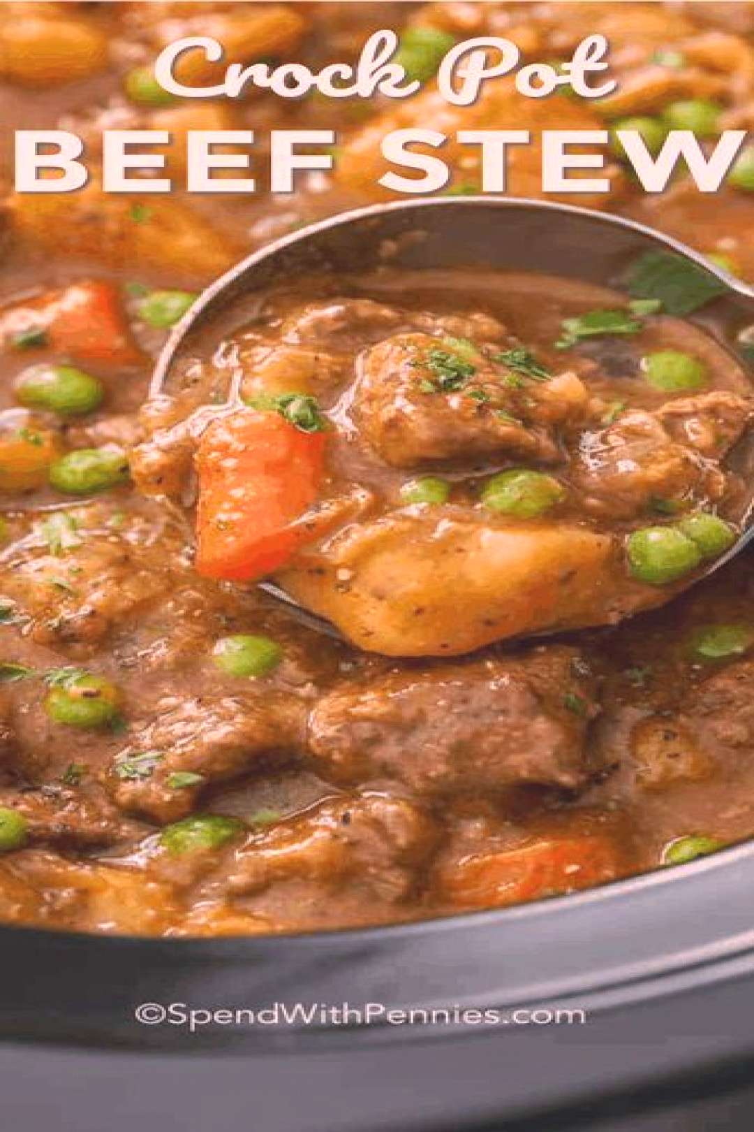 Homemade Crockpot beef stew is an easy and flavorful main course that we love pulling our slow cook