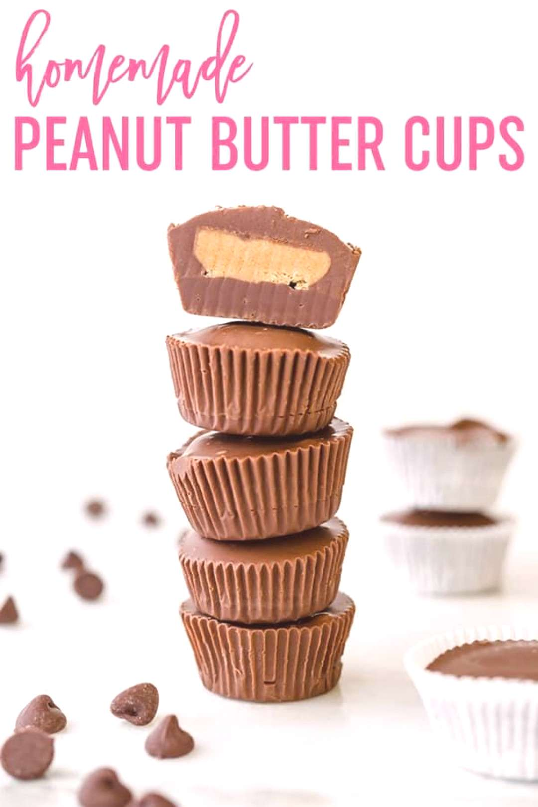 Homemade Peanut Butter Cups :: A homemade version of Reese's peanut butter cups. This easy recipe c