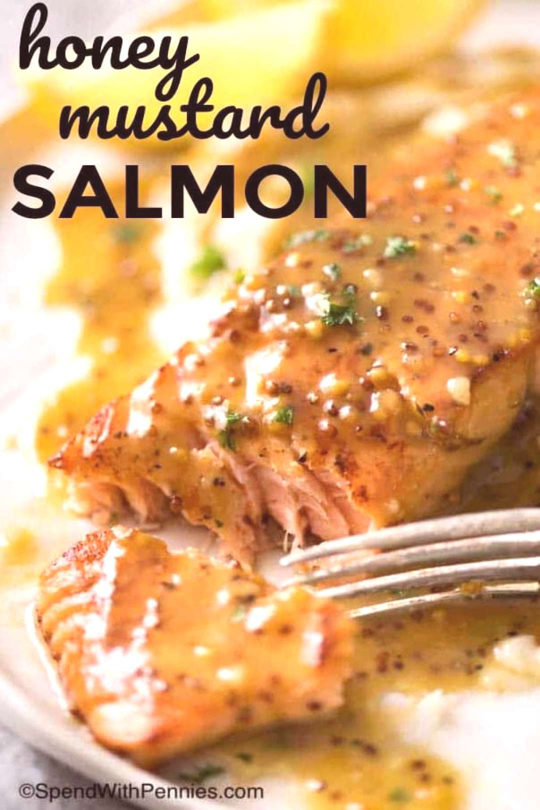 Honey Mustard Salmon - Spend With Pennies,  ... Honey Mustard Salmon - Spend With Pennies,