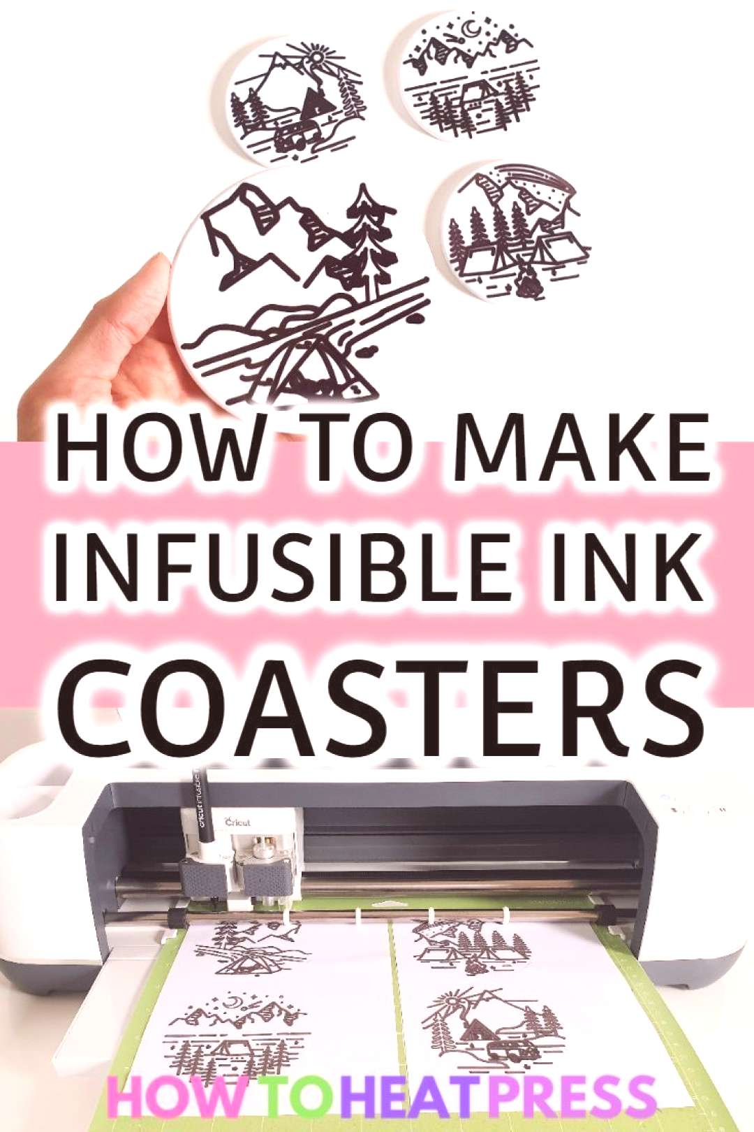 How To Draw With Cricut Infusible Ink Pens And Coaster Blanks!#blanks