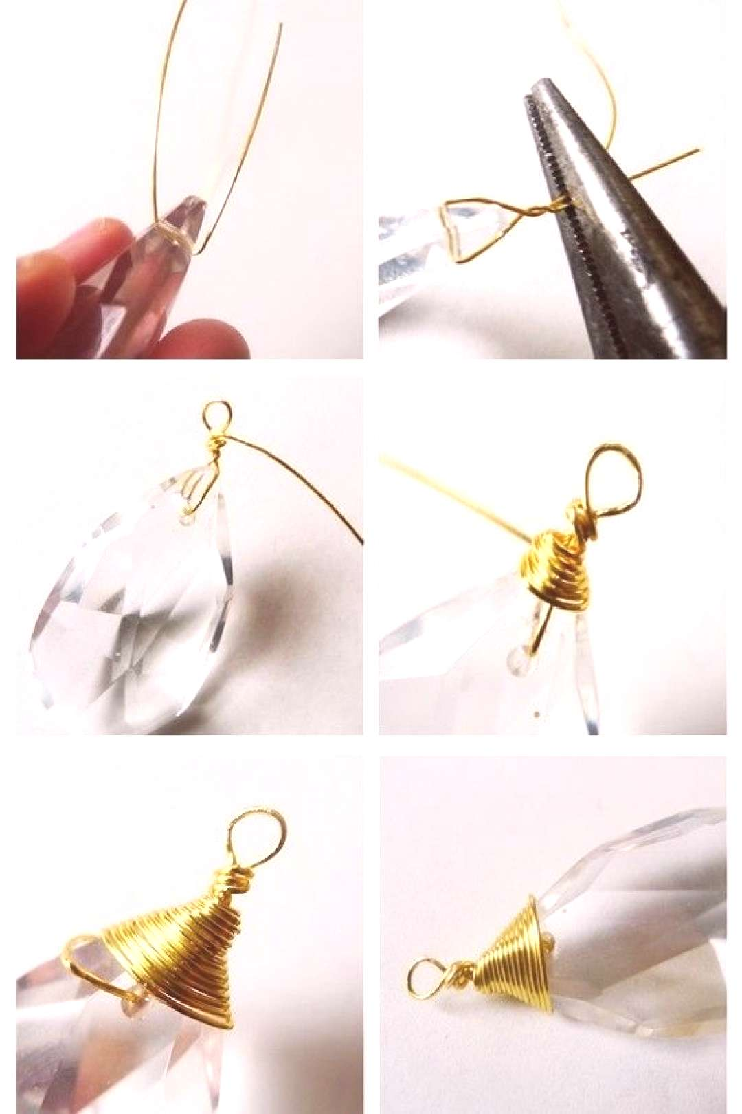 How to make a pendant necklace. Chandelier Pendant Necklace - Step 3