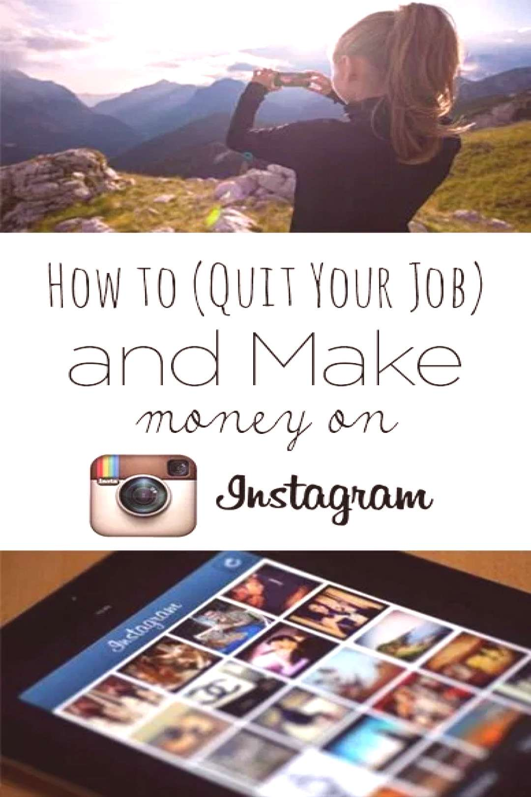 How to (Quit Your Job) and Make Money on Instagram - Flipping Pennies - -