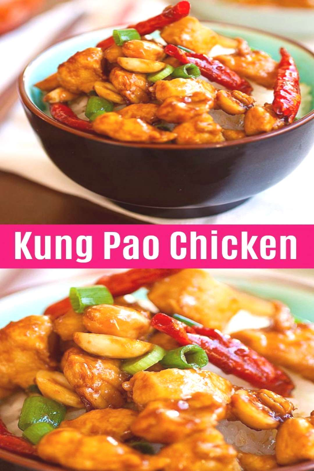 Kung Pao Chicken Kung Pao Chicken is a Chinese takeout classic loaded with spicy chicken, peanuts,