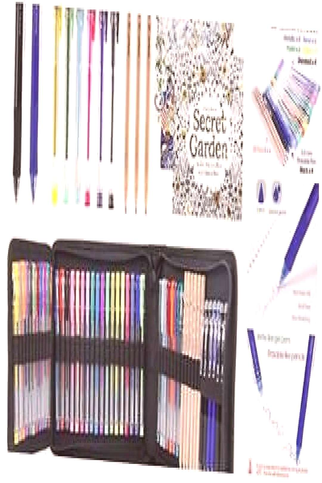 Larkpad 42 Gel Pens Set - 6 Retractable Erasable Gel Pens36 Color Gel Pens