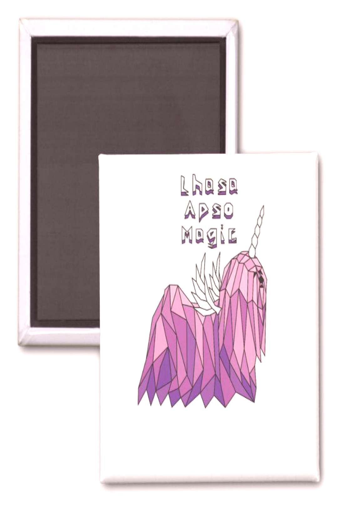 Lhasa Apso Magic Unicorn Pegasus Magnet ,