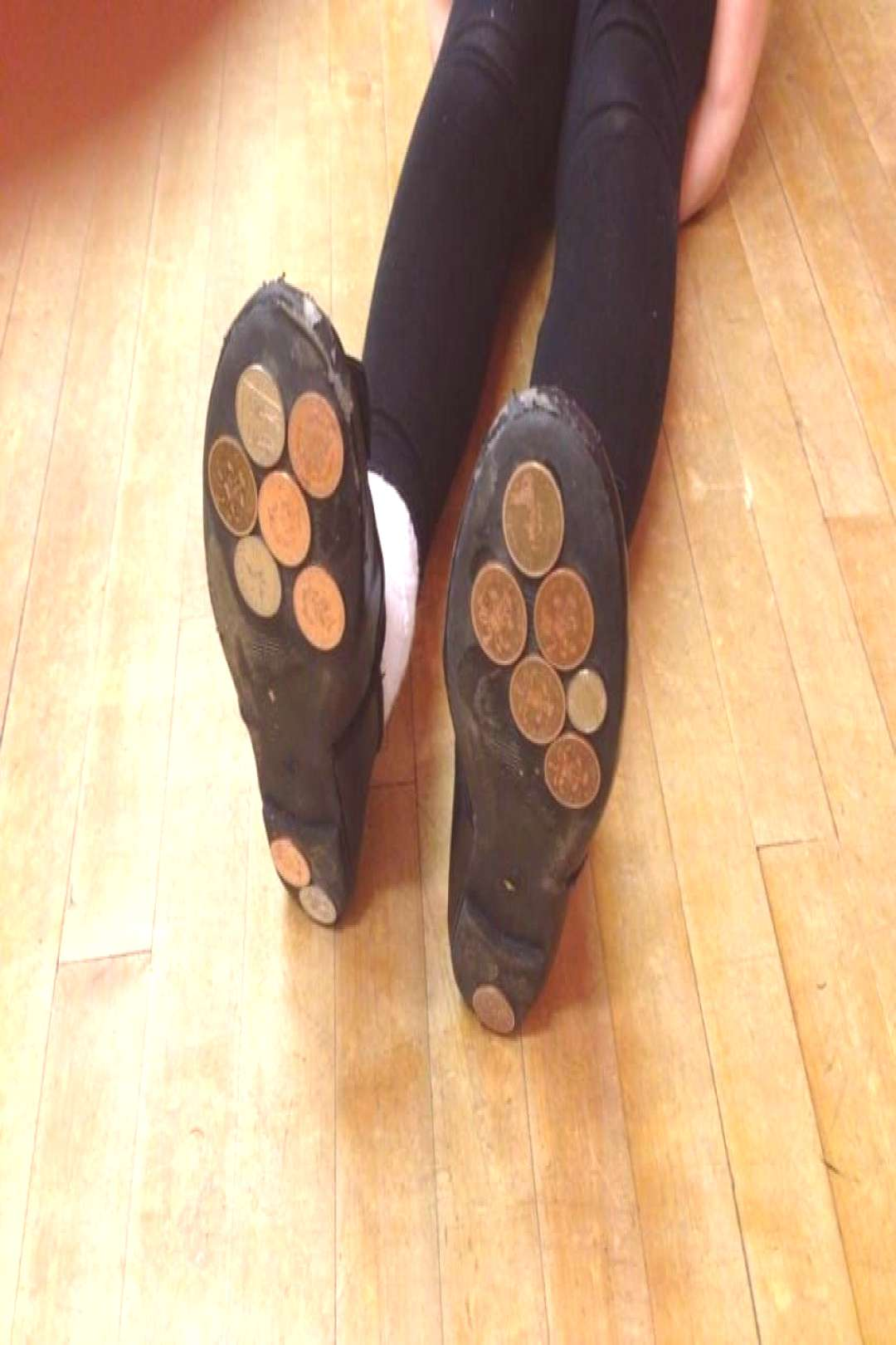 Make Genius DIY Tap Shoes With Just A Handful Of Old Pennies#diy