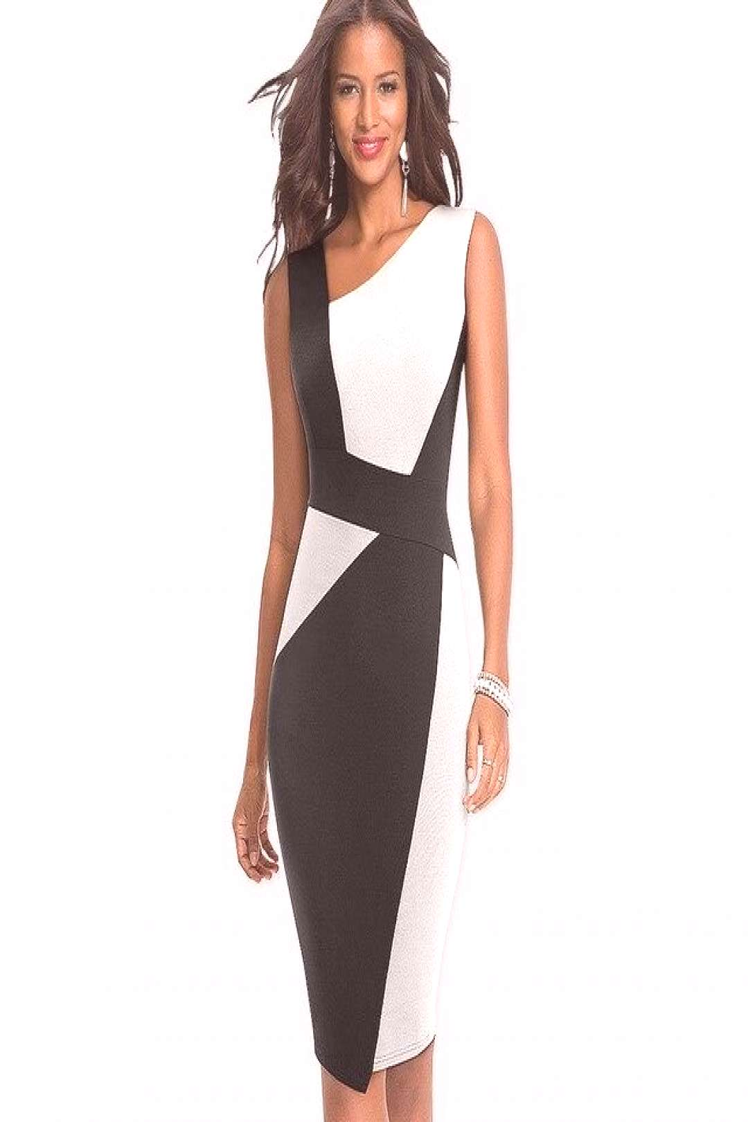 New Fashion Patchwork Elegant Office lady dress Sheath Fitted Bodycon Business pencil dress HB517 -