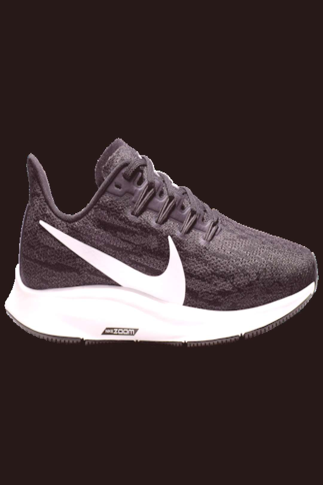 Nike Air Zoom Pegasus 36 Active Performance Running Shoes - Black / White Thunder Grey#active
