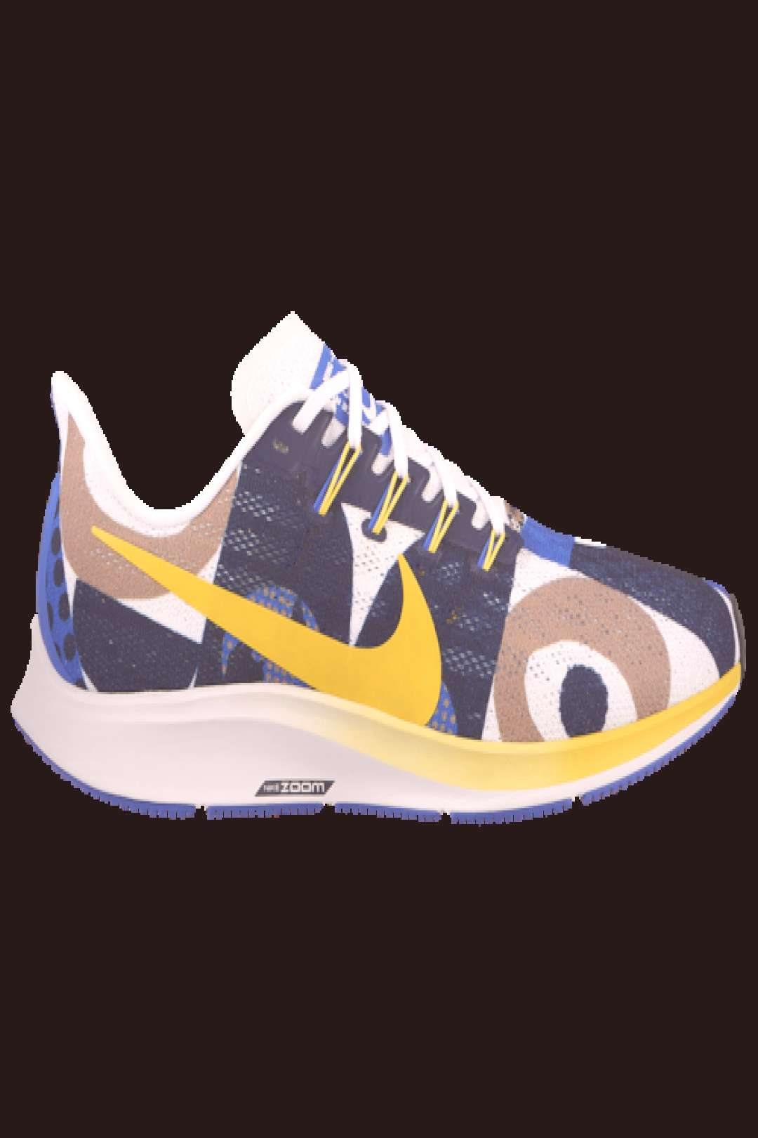 Nike Air Zoom Pegasus 36 Active Performance Running Shoes - Hyper Royal / Chrome Yellow White Obsid