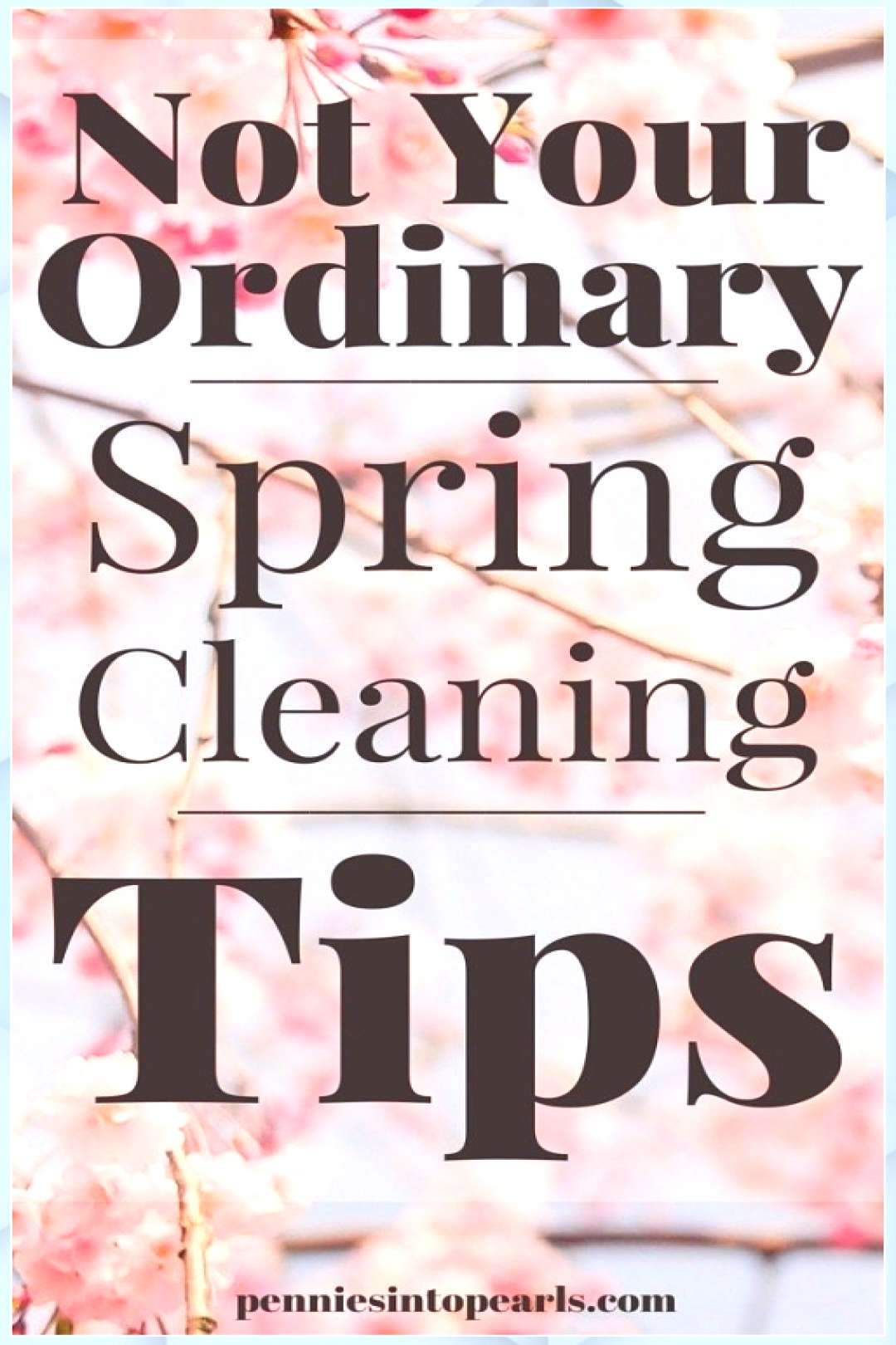 Not Your Ordinary Spring Cleaning Tips - Pennies into P - Spring Break Kids -  Not Your Ordinary Sp