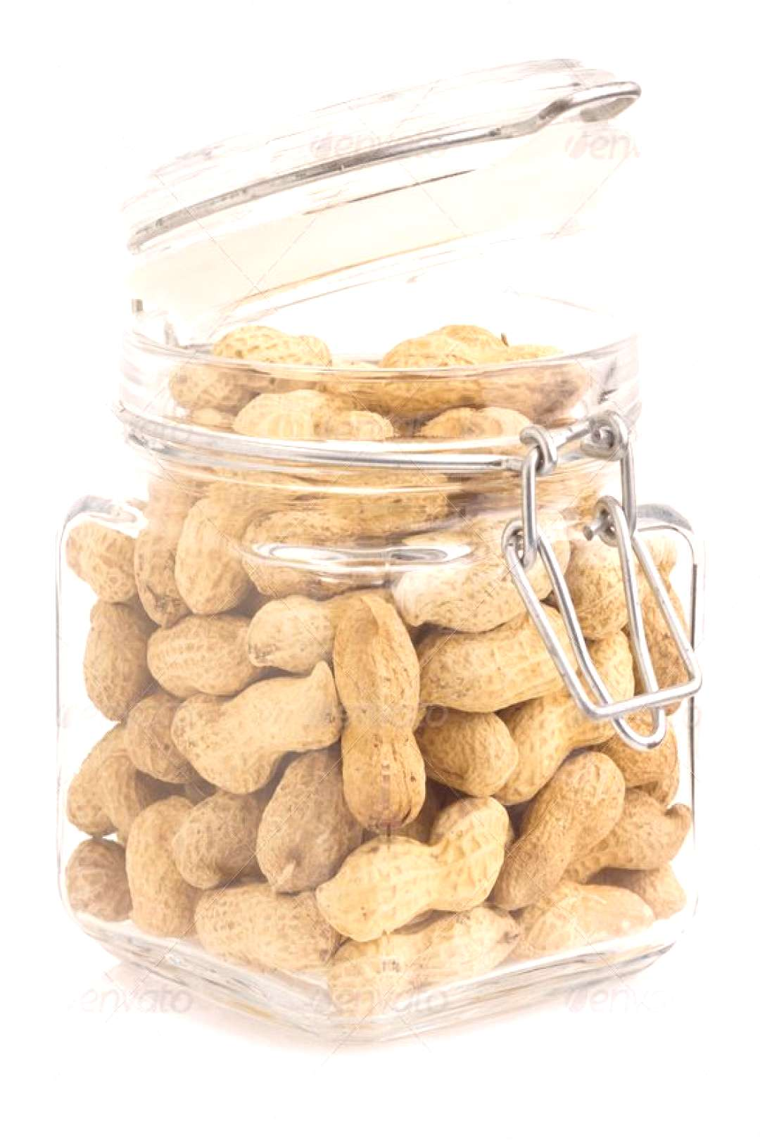 nuts peanuts on white background by seregam. nuts peanuts isolated on white background