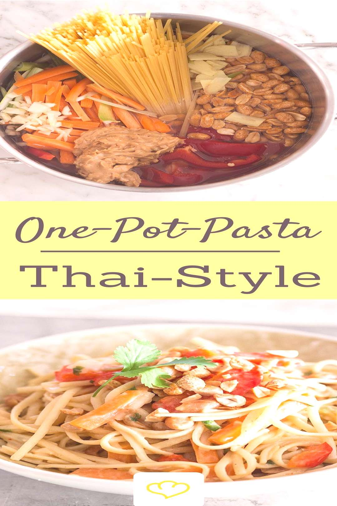 One pot pasta Thai style with vegetables and peanuts#pasta