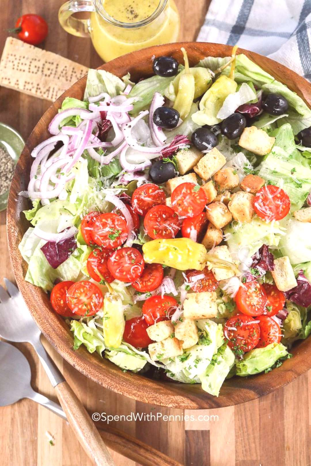 Our Favorite Italian Salad (Spend With Pennies) salad recipes salad recipes salad recipes salad rec