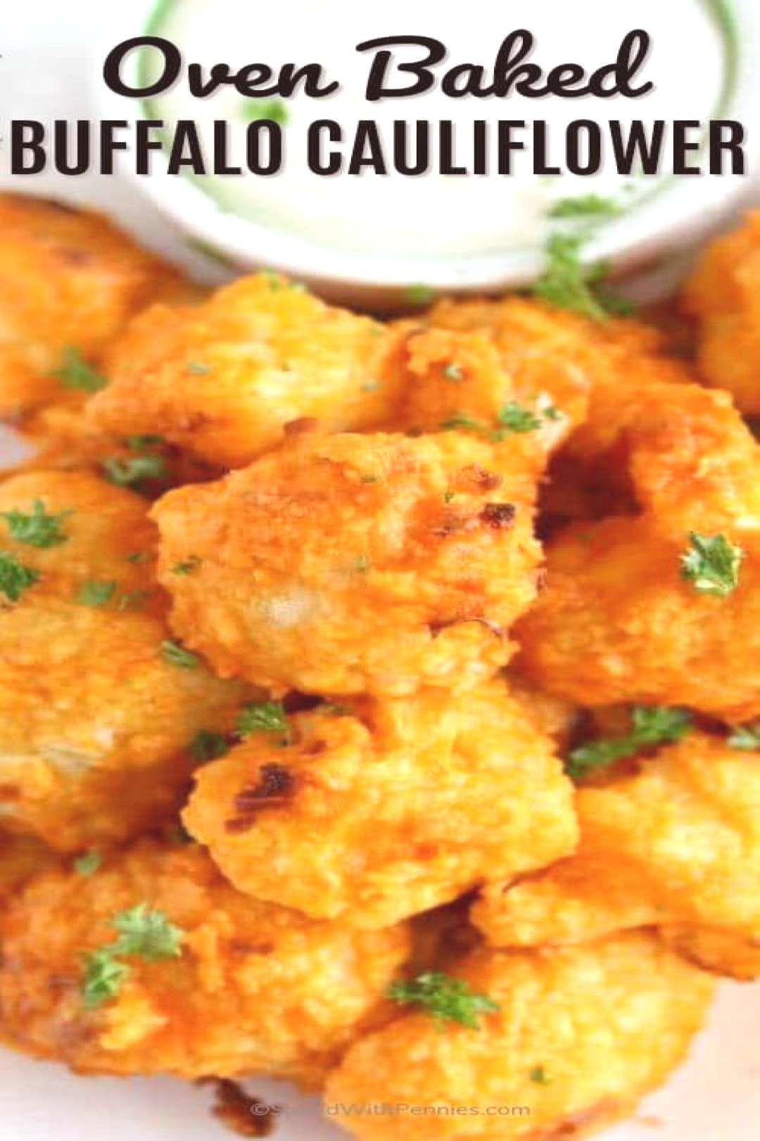 Oven Baked Buffalo Cauliflower Bites- Spend With Pennies