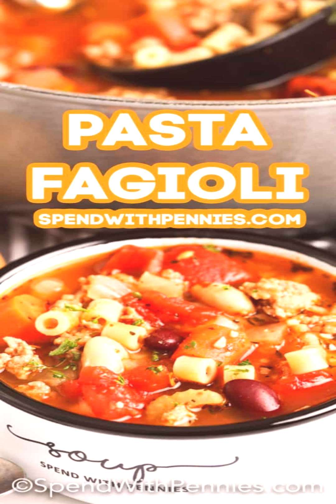 Pasta Fagioli Soup Recipe - Spend With Pennies -  Pasta fagioli soup (or pasta e... - -    Pasta Fa