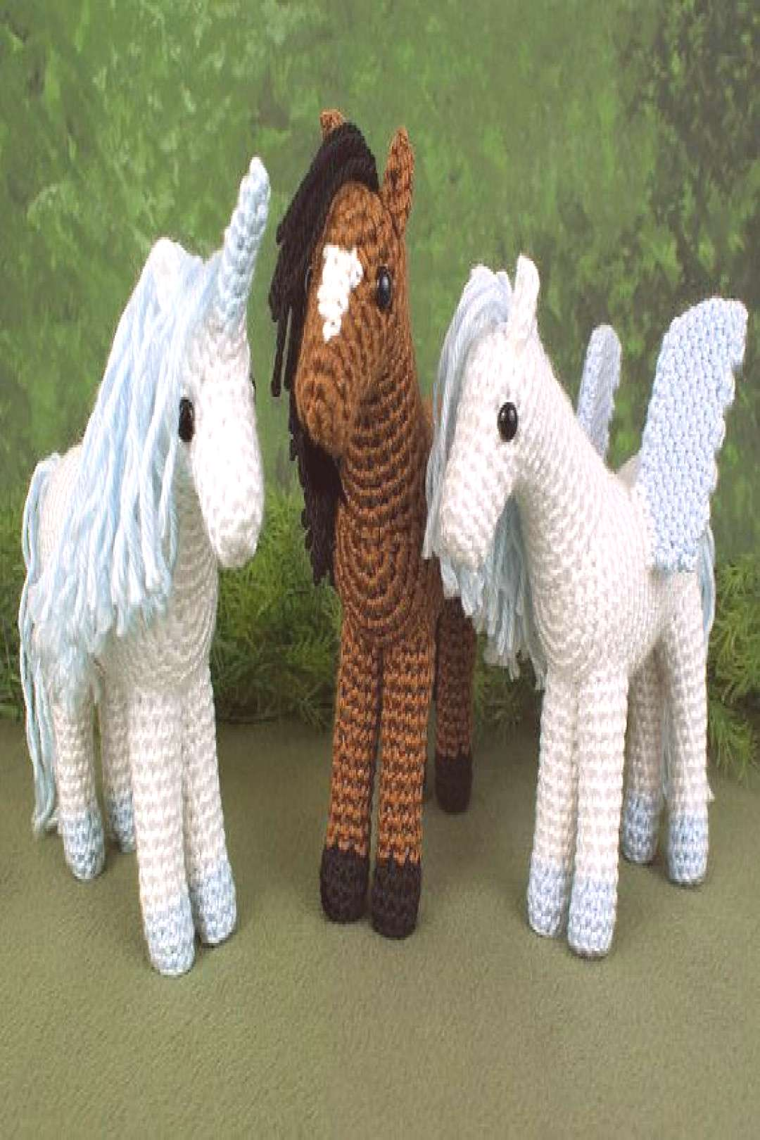 PDF Horse, Unicorn and Pegasus - three amigurumi CROCHET PATTERNS  PDF Horse Unicorn and Pegasus  t