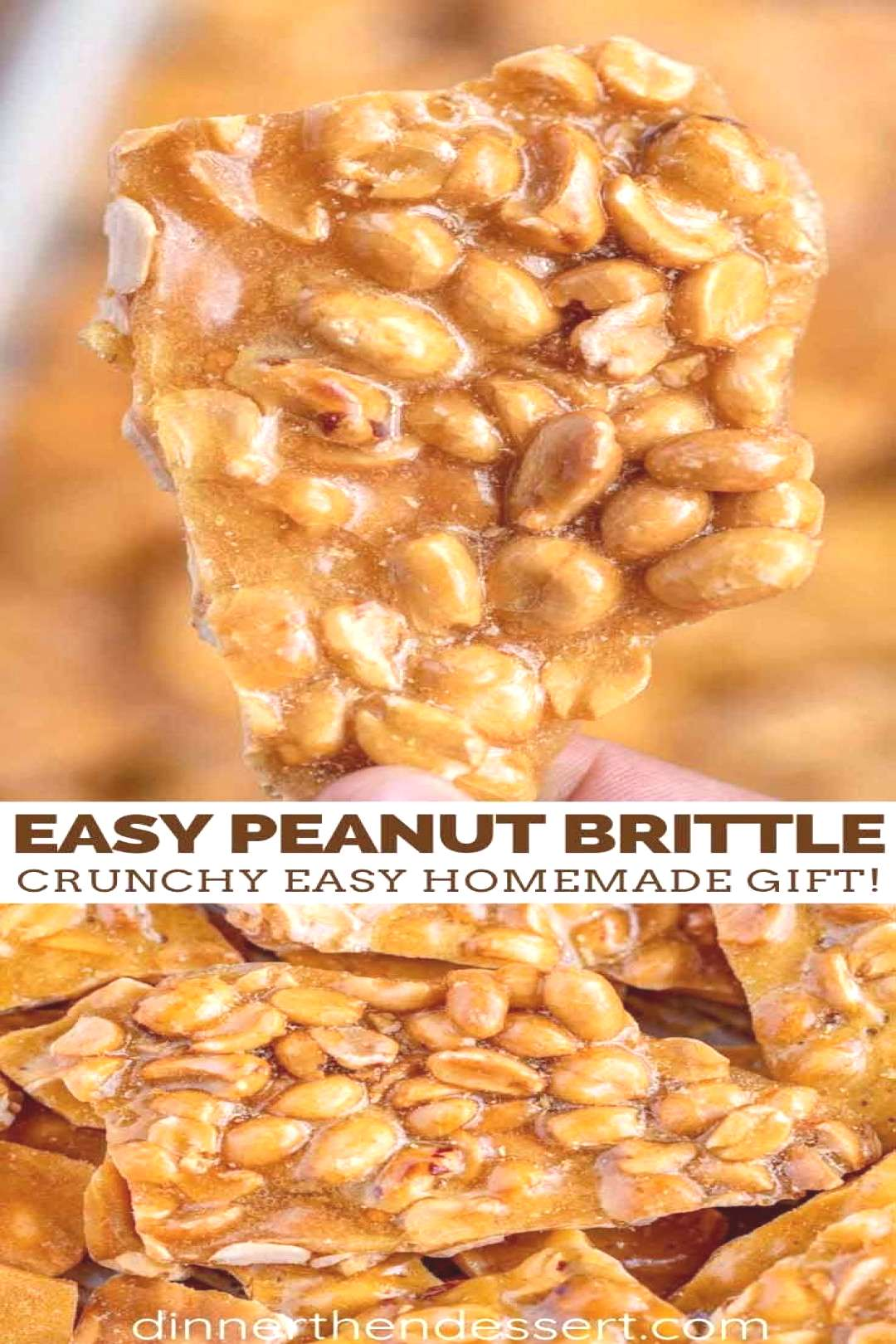 Peanut Brittle is the PERFECT party dessert, made with butter, peanuts, and corn syrup, its sweet,
