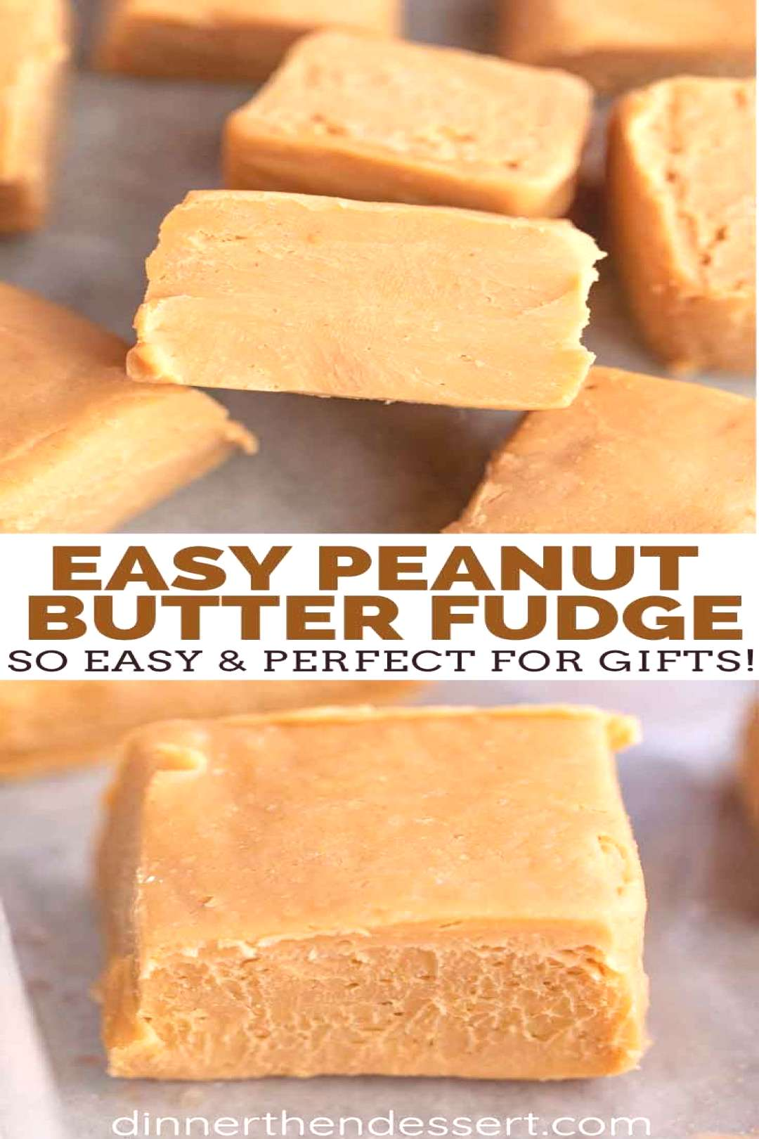 Peanut Butter Fudge is a smooth, buttery and rich old-fashioned recipe, with only 6 ingredients tha