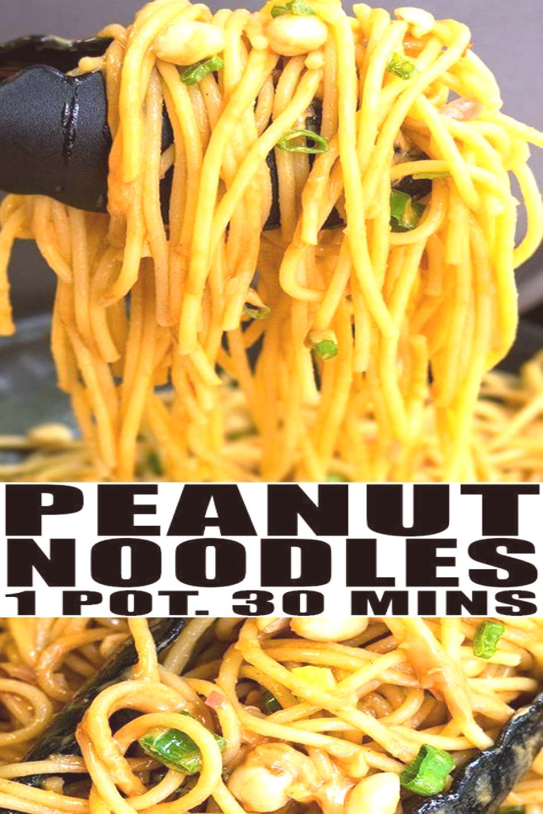 PEANUT NOODLES RECIPE- Quick easy healthy vegetarian slightly spicy made with simple ingredients in