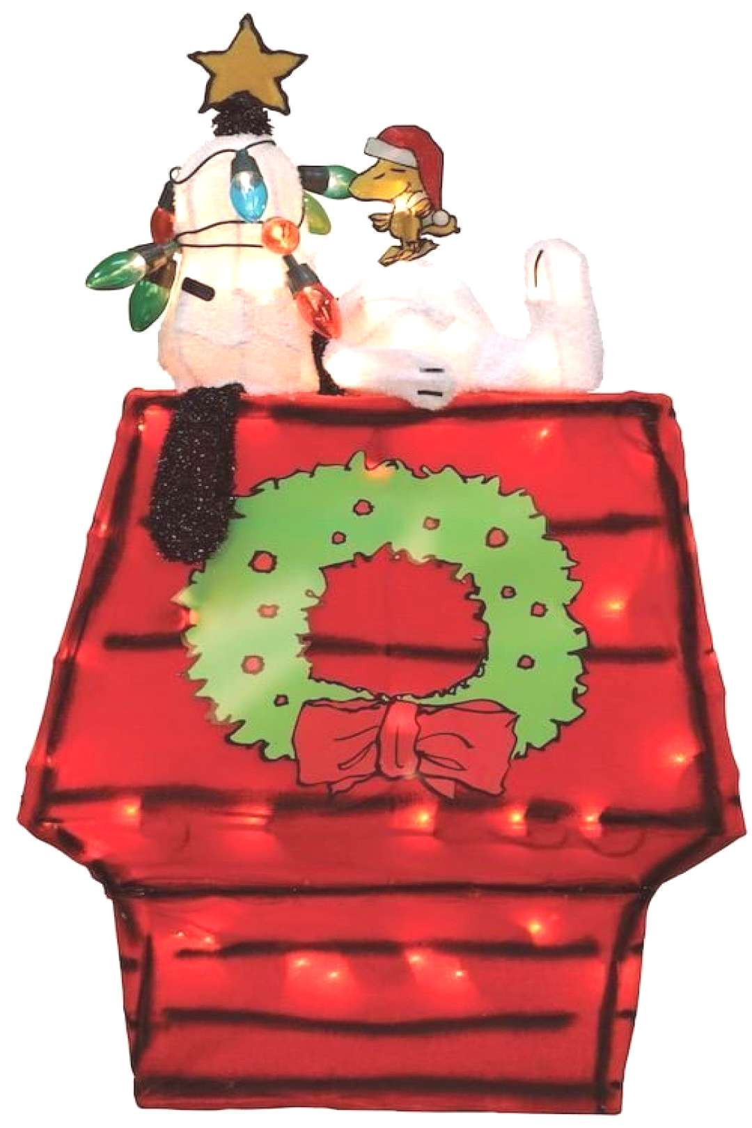Peanuts Snoopy on Doghouse 26-in. Pre-Lit Christmas Decor - Indoor and OutdoorCl... Peanuts Snoopy