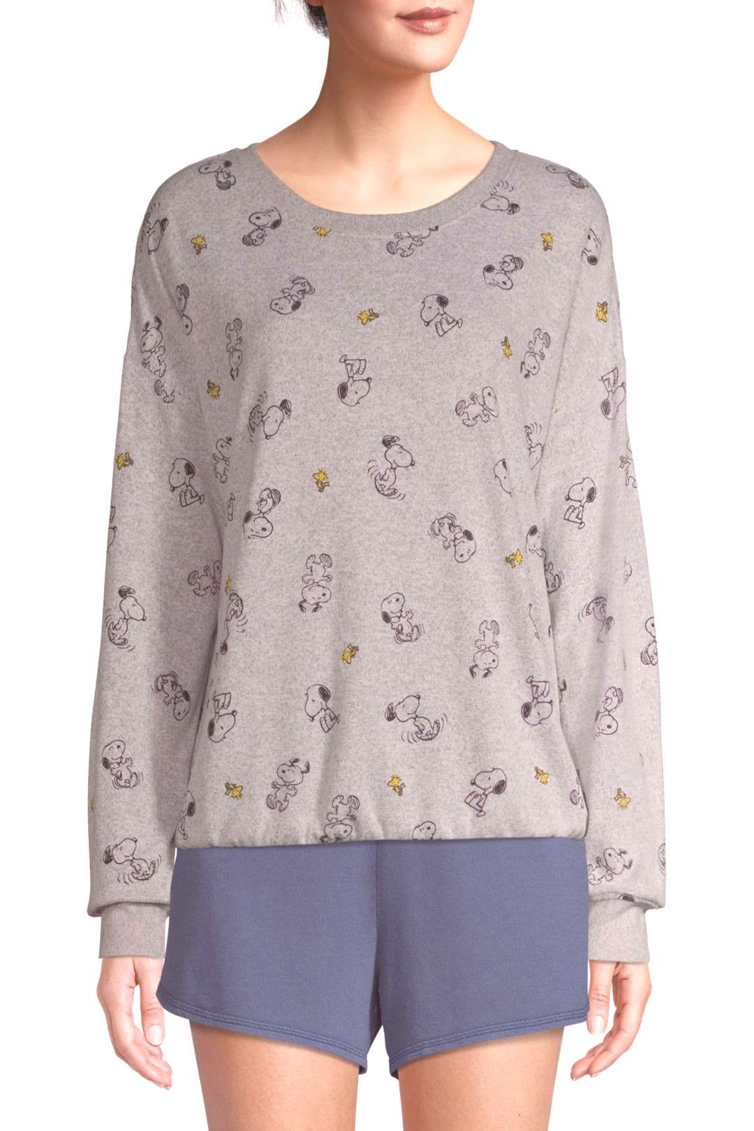 Peanuts Women?s and Women?s Plus Long Sleeve Sleep Top.