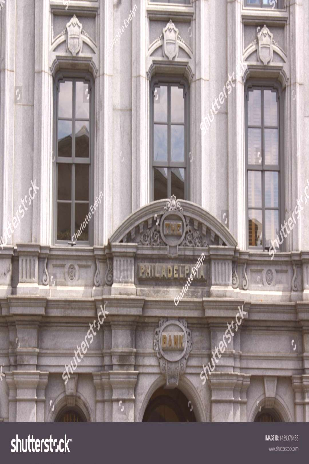 Philadelphia, Pennsylvania, United States - June 24, 2019: Closeup of the sign on the Bank Building
