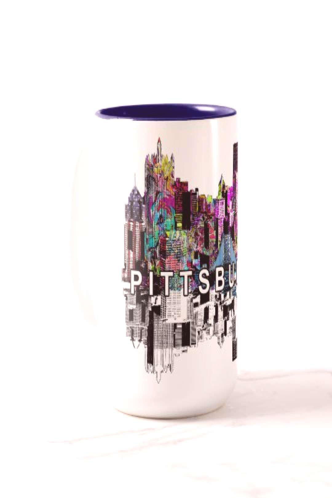 Pittsburgh, Pennsylvania in graffiti Two-Tone Coffee Mug | 20% off with code SPRINGTREATS