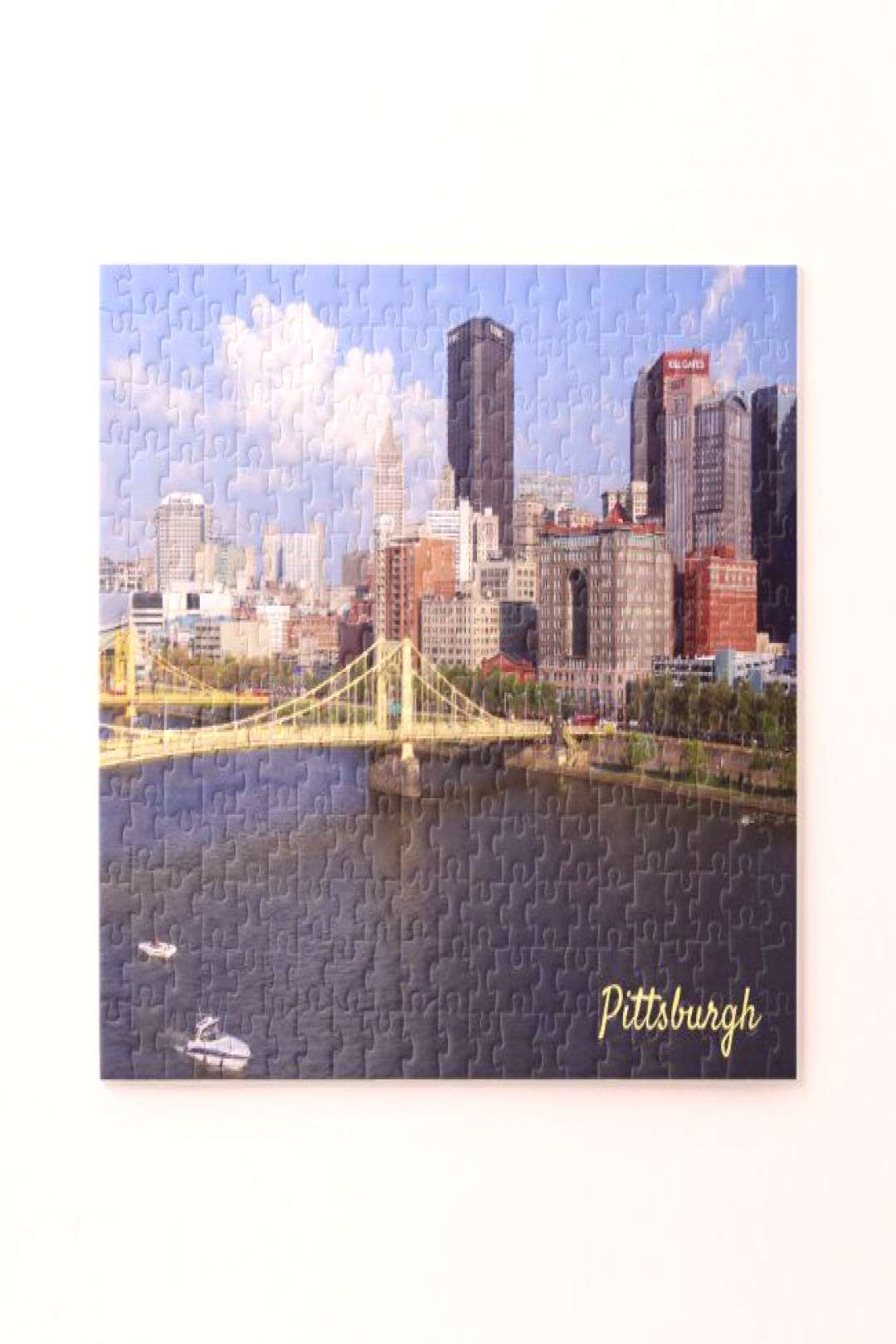Pittsburgh Skyline Allegheny River Clemente Bridge Jigsaw Puzzle